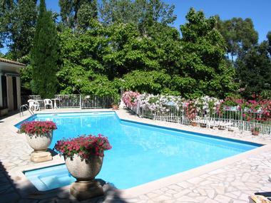 Pool in sun