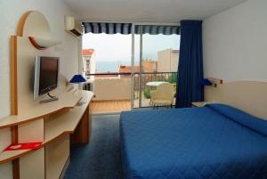 Hôtel Centre Plage Argelès-sur-Mer - Chambre bleue