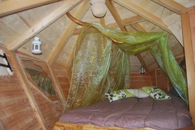 Normandie cabanes arbres Les Faines intérieur