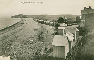La Plage de Quiberville - Photo ancienne