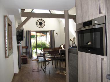Ouville - Villa Argonne gîte DIEPPE cuisine salon
