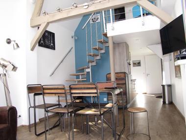 Ouville - Villa Argonne gîte DIEPPE séjour cuisine-entrée