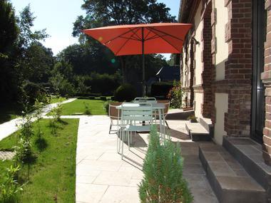 Ouville - Villa Argonne gîte LE TREPORT terrasse