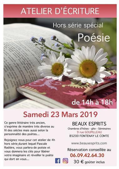 Atelier poésie 2019 - Fontenay-le-Comte