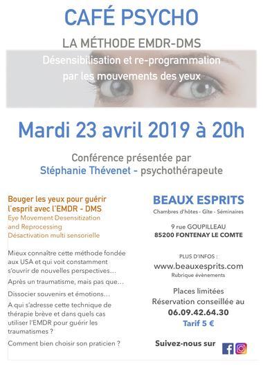CAFÉ PSYCHO LA MÉTHODE EMDR-DMS - Fontenay-le-Comte - 85200 -2