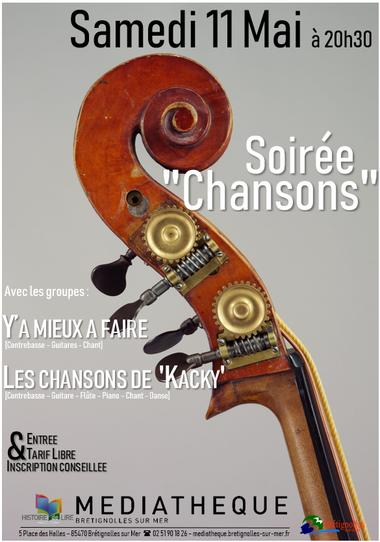 Soirée Chansons Mai 19