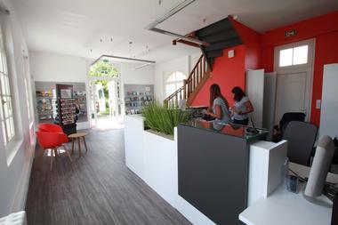 Intérieur du Bureau d'Information Touristique de Saint Hilaire de Riez