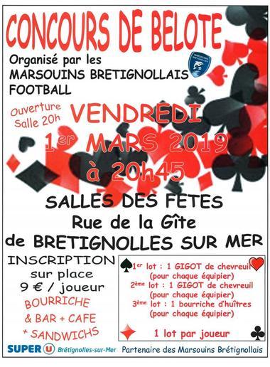concours de belote 1er mars