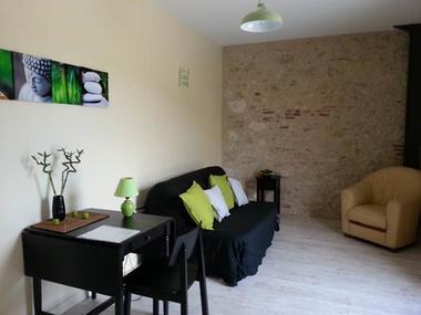 "salon privatif chambre ""Galets de Garonne"" accueil PMR"