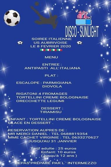 Soirée italienne
