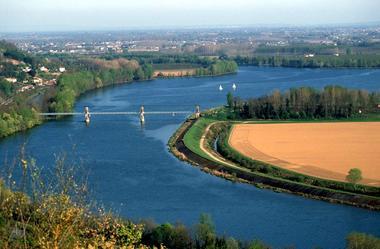 Confluent du Tarn et de la Garonne depuis Boudou