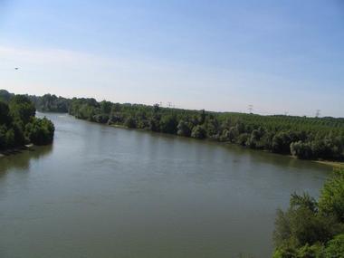 La Garonne à Verdun sur Garonne