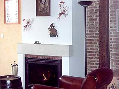 Salon et cheminée