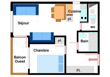 Quartier Napoleon - 2 pièces 5 personnes - CA0034