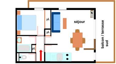 Bouvreuil - 2 pièces 4 personnes - BOU142