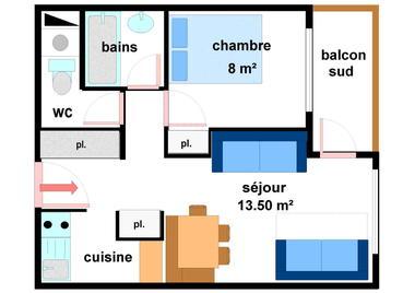 Quartier Napoleon - 2 pièces 5 personnes - AR0026
