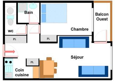 Quartier Napoleon - 2 pièces 5 personnes - BO0026