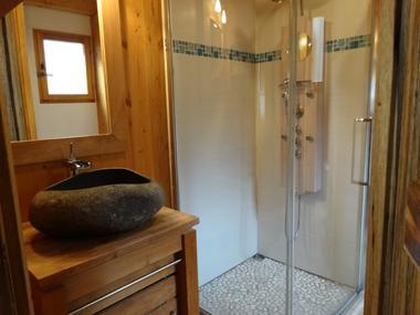 Salle d 'eau Location Meublé Chalet Quillawasi Chaillol