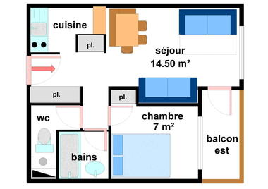 Quartier Napoleon - 2 pièces 5 personnes - BO0033