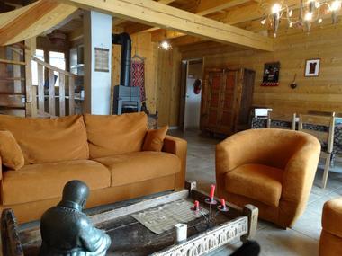 Salon Location Meublé Chalet Quillawasi Chaillol