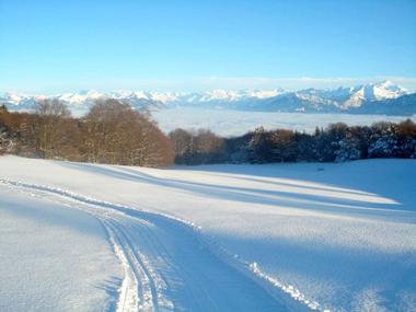 Piste de ski de fond au Salève