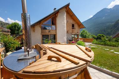 Bain norvégien et la maison