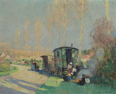 langres 52 musees exposition jules rene herve les bohemiens vers 1940 photo sylvain riandet.