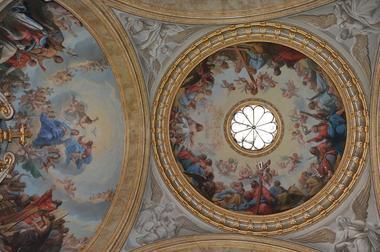 champagne 52 cirey sur blaise chateaux voltaire chapelle plafond phl 4894.
