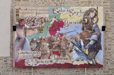 champagne 52 andelot patrimoine fresque la guerre des reines mdt52.