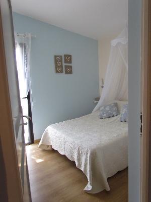 Chambre bleue, vue sur les collines - Sud Aveyron