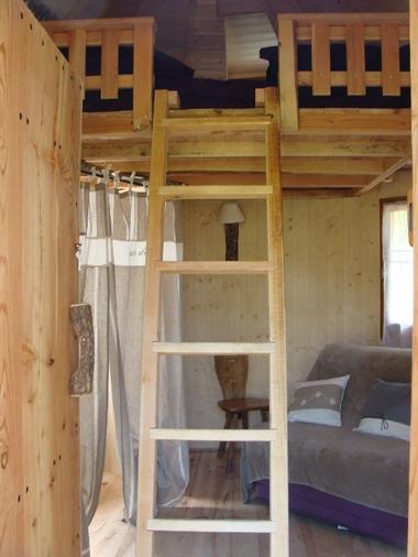 Interieur de la Cabane de Lily - LA CACHETTE