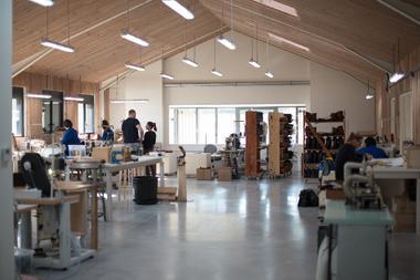 A l'intérieur de l'atelier