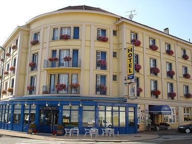 champagne 52 chaumont hotel terminus reine facade.