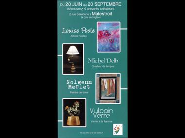Artisans d'art rue de la Saulnerie - Malestroit - Morbihan