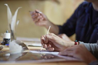 Atelier-enluminure---Les-Landes