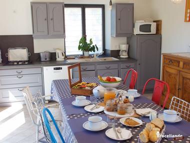 Chambres d'hôtes Les Hortensias - Salle des petits déjeuners - La Croix-Helléan - Morbihan - Bretagne