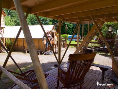 Camp western 5 Camping d'Aleth St-Malo de Beignon Brocéliande
