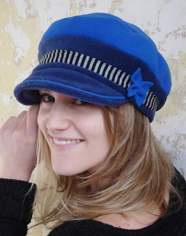 Casquette Miss encre et bleu