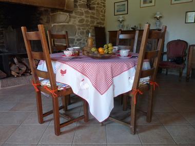 Chambres d'hôtes Métairie de la Béraudaie petit-déjeuner - Bohal - Morbihan - Bretagne