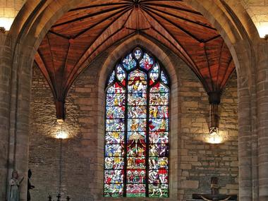 Vitrail - Arbre de Jessé - Eglise Saint Armel - Ploërmel - Bretagne