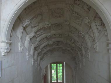 Château de Poncé - Escalier à caisson Renaissance