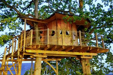HLO53 - Cabane dans les arbres Gué de Selle 3