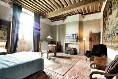 chambre Aubusson - château de Bourgon