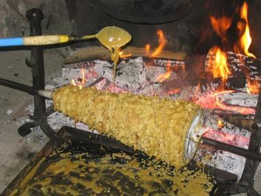 Cuisson du Gâteau à la Broche