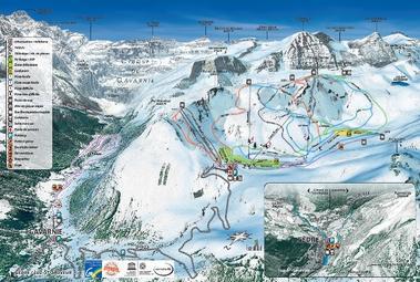 Plan des pistes Gavarnie-Gèdre 2014 Petit