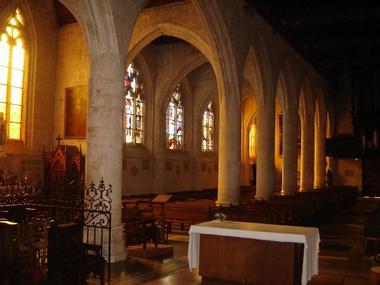Eglise Notre Dame d'Orbec, nef.