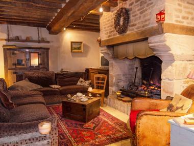 Haras d'Écajeul - Jean-Luc Bara chambre d'hôtes Salon et cheminée