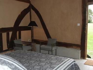 La Bergère Chez Hendrika Walthaus Chambre d'hôtes à Lisieux prés de Lisieux Lit