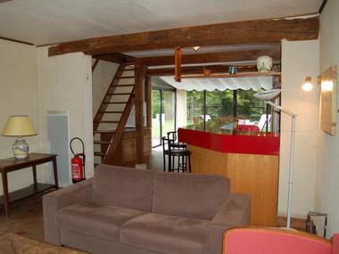 Le Moulin du Saut de la Truite Gite de Thierry Lelong à Hermival-les-Vaux 4 Vue du Salon