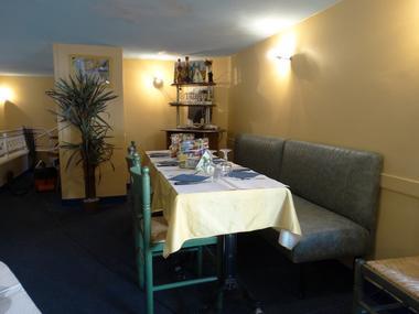 Palazzo pizza tables de l'étage